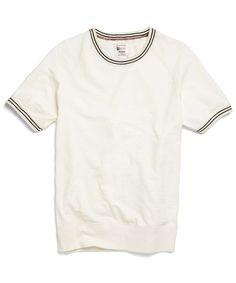 Piped Raglan Sweatshirt in Vintage White