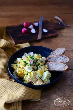 REĎKOVKOVÝ ŠALÁT S COTTAGE SYROM - Moje Jedlo Cottage Cheese, Potato Salad, Eggs, Potatoes, Breakfast, Ethnic Recipes, Food, Morning Coffee, Potato