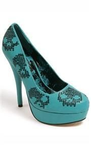 Iron Fist Sugar Hiccup Platform Shoes Teal
