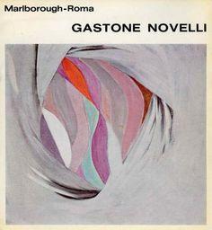 Gastone Novelli. Roma, Galleria Marlborough, 1966. Catalogo di mostra. Scritti di Elio Pagliarani e Claude Simon