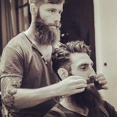 thelastofthewine: bearditorium: Beard grooms beard ***double boner beards