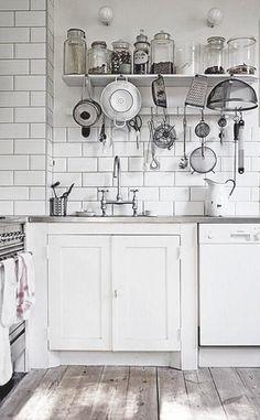 All White Kitchen #white
