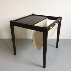 Mid-Century Coffee Table, Danish Side Table with Magazine Rack from Brdr.