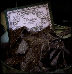 Harry Potter Inspired Food Blue corn chips with salsa (dragons blood) would be cool
