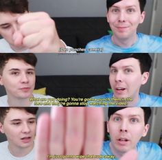 Danisnotonfire & AmazingPhil<<< Don't you ever dare say that Phil isn't cute and adorable<<Dan looks confused and so done in the last picture. British Youtubers, Dan And Phill, Phil 3, Danisnotonfire And Amazingphil, Cat Whiskers, Tyler Oakley, Phil Lester, Dan Howell, Phan