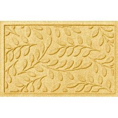 "Andover Mills Pritchard Brittany Leaf Doormat Rug Size: Half Oval 2' x 3'3"", Color: Medium Brown"