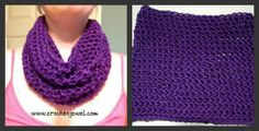 Crochet Simple Cowl If you tell others about my work, please only link back to my blog, but don't copy my pattern to your site. Also you can sell anything you make from my patterns, but don't sell the free pattern. Thank you  Enjoy this Easy and Simple way to make a Cozy Cowl! It was so easy