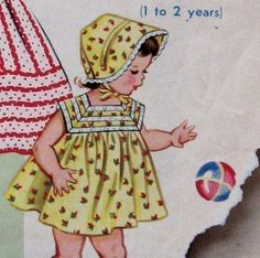 Vintage 1950s Toddlers Dress And Sun Bonnet by kalliedesigns