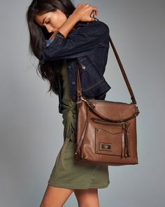 Womens Leather Heritage City Tote