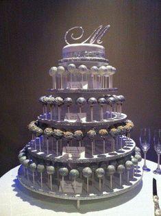 cake pop wedding cake   weddingsabeautiful