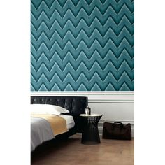 3D Chevron Teal Blue - Wallpaper Brokers Melbourne Australia