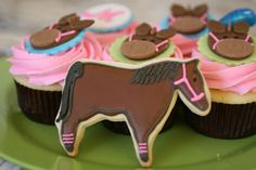 Pony Party cupcakes and cookies Happy Chickadee