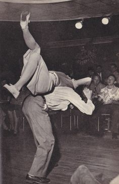 """Some wild swing dance aerials from a British """"Men Only"""" magazine from 1952"""