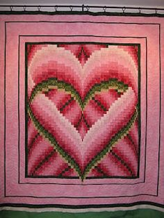 Heart Bargello Quilt