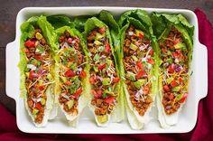 Turkey Taco Lettuce Wraps | 10 Easy Healthy Recipes To Make Your Diet Easy | https://homemaderecipes.com/10-easy-healthy-recipes/