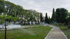 Lenta recuperación de la superficie verde que la ciudad perdió en los últimos años  El Parque Elcano sumó este año verde al barrio de Chacarita. Foto: GCBA