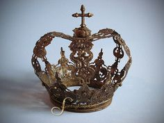 Rhinestone Studded Large European Santos Crown by Santos Cage Doll