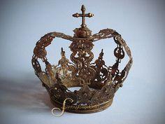 Rhinestone Studded Large European Santos Crown by Santos Cage Doll