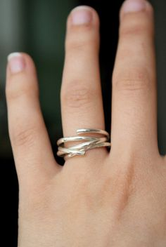 Going in Circles Sterling stacking ring set of 3 by hannahnaomi
