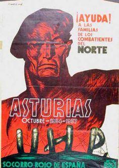 Asturias, octubre 1934-1937 : ¡ayuda a la familia de los combatientes del norte! :: Cartells del Pavelló de la República (Universitat de Barcelona)