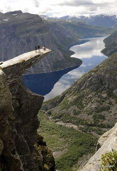 """Yesterday I was on the """"Trolltunga"""" Odda Norway. By Olav Lepsoe."""