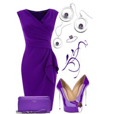 Purple & Silver Outfit! Find more like this here - http://studentrate.com/fashion/fashion.aspx