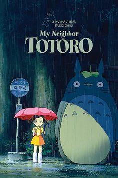 Studio Ghibli Films, Art Studio Ghibli, Studio Ghibli Poster, Hayao Miyazaki, Anime Totoro, My Neighbor Totoro Movie, Totoro Poster, Vintage Anime, Anime Cover Photo