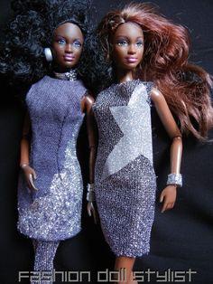 Working with glitter. www.fashiondollstylist.blogspot.com