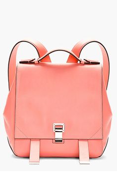 15 Work Bags That Will Always Have Your Back #refinery29 Proenza Schouler Pink Leather New Lamm Small Backpack
