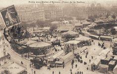 place de la Nation - Foire du Trône - Paris 11ème/12ème - Autre vue générale des attractions de la Foire du Trône, vers 1900.