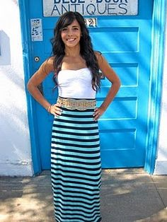 how to make a maxi skirt.. i want this outfit!