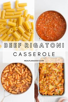 Garlic Lovers Beef Rigatoni is packed full of bold flavours (a whole head of garlic), and is so easy to put together for dinner, a freezer meal or a make ahead meal prep recipe. Pizza Pasta Bake, Pasta Casserole, Make Ahead Casseroles, Make Ahead Meals, Freezer Friendly Meals, Freezer Meals, Veggie Recipes, Healthy Recipes