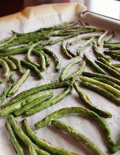 Bacon Roasted Green Beans . . . I use Pork Lard from Pasture Raised Pigs instead of Bacon Fat (most bacon has sugar) just to be safe for the Whole30 :-) ~ Becky
