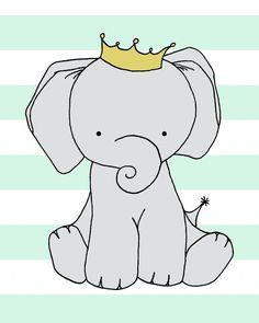 Custom Listing Elephant Nursery Art  Nursery Decor
