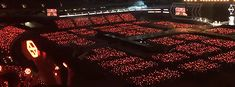 Chanyeol power(red) - Xiumin Power(blue) The EXO'rDIUM dot in Jamsil Seoul Concert Crowd, Exo Concert, Ocean Gif, Baekhyun Chanyeol, Beautiful Ocean, Chanbaek, Kpop, 5 Years, Backstage