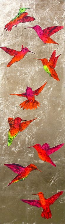 'Divine Number 9', gold leaf, acrylic, music score and pencil on canvas, 100x30x4cm (2013) by Louise McNaught :)