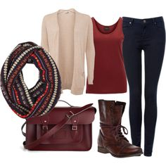 """""""Maroon style."""" by mathildemillet on Polyvore"""