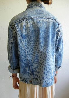 Vintage Levi's Cheetah Print Denim Jacket by rerunvintage on Etsy