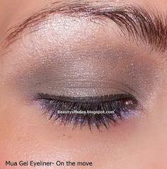 Brown and purple eyes makeup