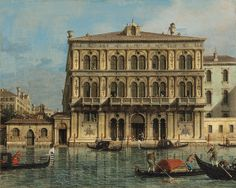 Executed on Canaletto's return from England to Venice after 1755, Palazzo Vendramin-Calergi, on the Grand Canal, Venice is one of a group of views of individual palazzi that the artist painted around this date (estimate: £800,000-1.2 million). On a similarly small scale, the majority of these works are of English provenance, including that of Palazzo Grimani at the National Gallery, London. Less dependent on assistants during this phase of his career, Canaletto's  touch became lighter…