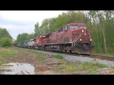 Canadian Train with locomotives