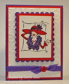 MMTPT126 Red Hat For Joyce by cmsuto - Cards and Paper Crafts at Splitcoaststampers