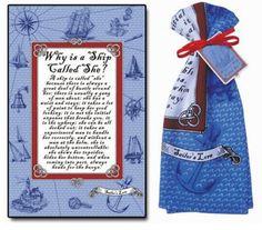 Sailor's Lore Cotton Tea Towel – Great Girls Gifts