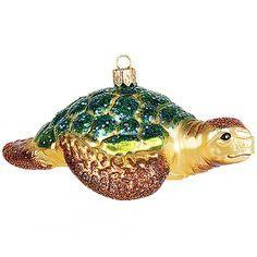 Gartenschätze: Weihnachtsbaumschmuck Wasserschildkröte