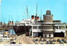Ocean terminal and the RMS Queen Mary, Southampton in the mid Rms Queen Elizabeth, Queen Mary, Cunard Ships, Southampton England, Coventry City, Isle Of Wight, England Uk, Great Pictures, Hampshire