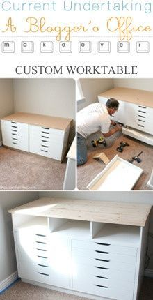 could do this for a craftroom/office -- maybe with separation between drawers for a chair. Would store card supplies wonderfully