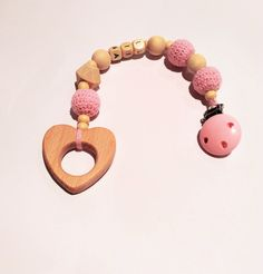 Pram Toys – Crochet Stroller/buggy baby chain/teething toy – a unique product by RasvyteEco on DaWanda