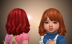 Madi Hairstyle for Toddlers – My Stuff Sims 4 Body Mods, Sims Mods, Sims 4 Mm Cc, My Sims, Toddler Hair Sims 4, Flame Hair, The Sims 4 Cabelos, Pelo Sims, Sims 4 Studio