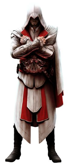 Ezio Auditore De Firenze- Assassins Creed- One of my favorite video game characters.It's just awesome how you got see him grow up in a way from his birth up until his death. I just love that trilogy :)