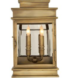 Visual Comfort CHO2908AB Chart House 2 Light 15 inch Antique Brass Outdoor Wall Lantern photo